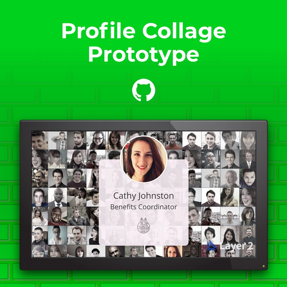 Screenshot of Profile Collage prototype.